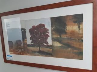 "28.5""x48"" Haist Landscape Print w/ Wood Frame"