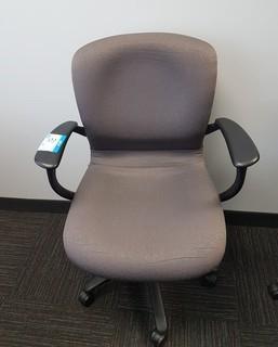 Upholstered Swivel Arm Chair