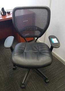 Swivel Arm Chair with Mesh Back