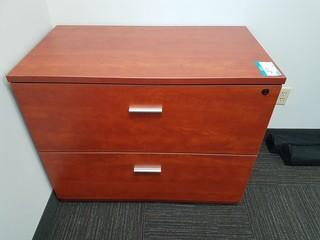 Wood 2 Drawer Lateral Filing Cabinet