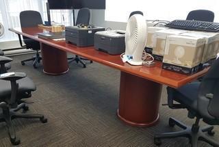 11' Double Pedestal Boardroom Table