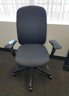 Executive High Back Upholstered Swivel Arm Chair