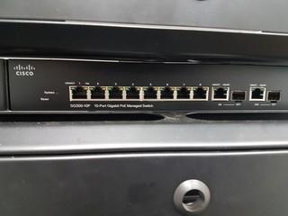 Cisco SG300-10P 10 Port Gigabit POE Managed Switch