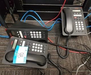Lot of 3 Avaya 1403 Digital Phones