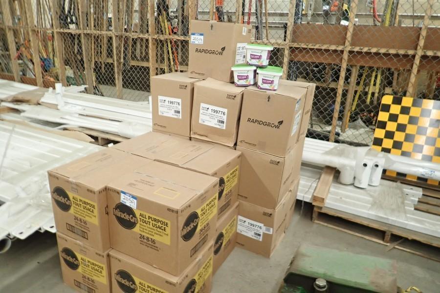 Lot of Approx. 26 Cases of 24,8,16 Granular Fertilizer and 20/20/20 Granular Fertilizer.