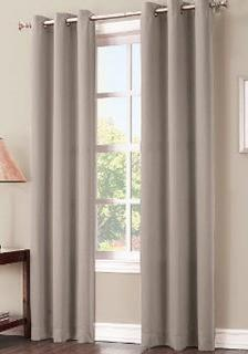 """Sun Zero Solid Room Darkening Thermal Insulated Grommet 2 Curtain Panels , Pearl Grey, 40x84"""""""