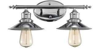 Baden-Powell 2-Light Vanity Light, Polished Chrome