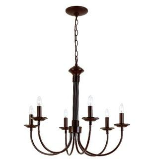 "Trans Glob Lighting 9016 ROB Indoor Candle Chandelier, Rubbed Oil Bronze, 22"" x 24"" x 24"""