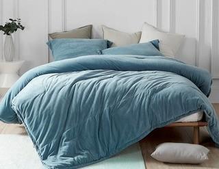 Williston Forge Treva Comforter Set, King, Smoke Blue