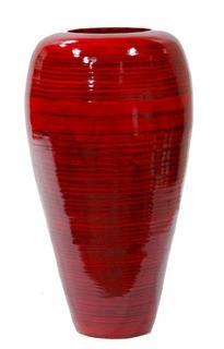 Heather Anne Creations Floor Vase-Red