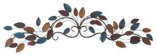 Traditional Metal Wall Decor, 10'' H x 43'' W