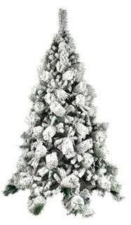 ALEKO CT70H663 Artificial Holiday Christmas Tree Premium Pine with Stand Snow Dusted 6 Foot Green and White
