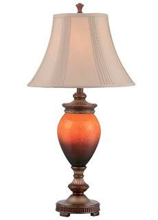 "Lite Source C41344 Natalie Table Lamp, 17.0"" x 17.0"" x 33.0"", Aged gold, Off-white"
