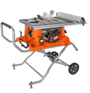 Rigid 10-Inch Heavy-Duty Portable Table Saw with Stand