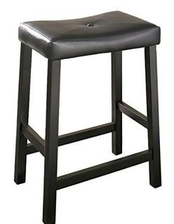 "Lottie 24"" Bar Stools, Black, Set Of 2"