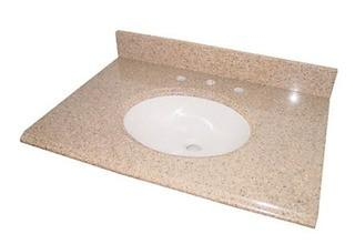 Glacier Bay 31-inch Granite Vanity Top in Beige with White Basin