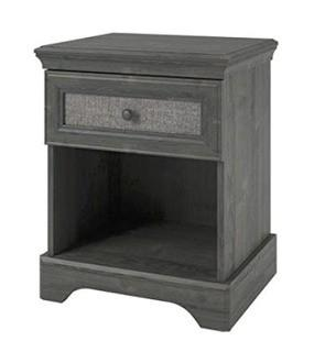 Middleton 1 Drawer Nightstand, Grey