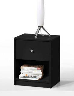 Altus 1 Drawer Nightstand, Black