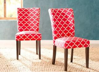 Darby Home Co. Lea Dining Chair, Set Of 2, Samba Red