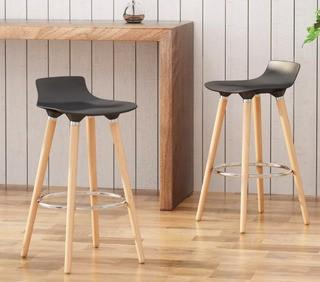 "Colne Low Back 29"" Bar Stool, Set Of 2"