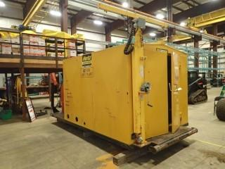 2006 Stamford 60KW Skid Mounted Genset. J/D 4 CYL., Switch Gear, Frontier Light Tower With (4) Lights, 18,000L Fuel Tank, 8'x10' Doghouse, Showing 19,001 HRS. S/N M06G114378-44