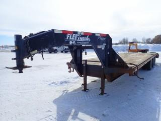 """2008 Road Clipper 8'5""""x32' Tri Axle Gooseneck Trailer With 27' Deck, Tail With Flip Up Ramps. VIN# 46UFU322881118647"""
