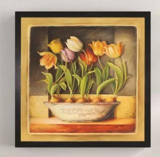 "Framed 'Tulip Classic Bulb' Print 16x16"""