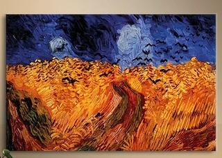 'Wheatfield with Crows'' by Vincent Van Gogh Painting Print on Canvas 32x24""