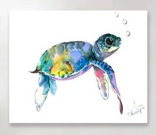Baby Sea Turtles 2' Graphic Art Print 16x20""