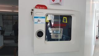 Cardiac Science AED Machine with Cabinet