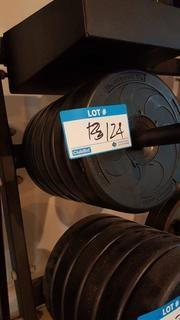 Qty of 6 - 2.5 kg bar bell weights