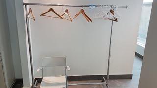Garment Rack and Chair