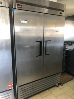 """True T43HC 2'6""""x3'11""""x6'11"""" 2 Door Refrigerator, C/W 6 Shelves. S/N 9256940"""