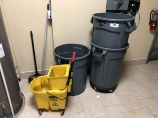 Garbage Cans, Mop Bucket