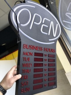 Newon Indoor Electric Time Sign