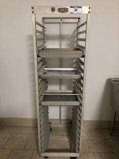 Aluminum Rolling Tray Rack C/W Quantity of Trays