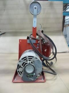 1in Vertical Electric Belt Sander c/w adjustable tension, 120v
