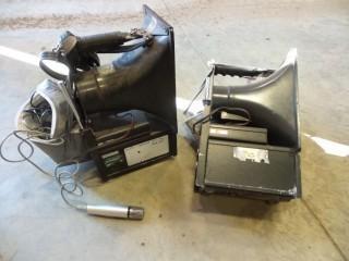 (2) Portable Loud Speakers