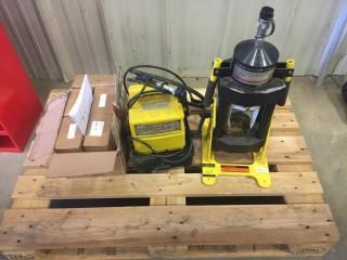 Portable Coll-O-Crimp Hydraulic Hose Crimper Kit W/ Adapters