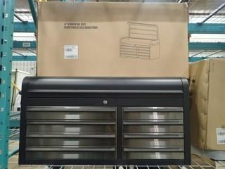 New 41 Inch 8 Drawer Black Stainless Steel Tool Chest