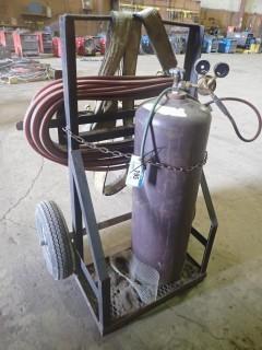 Acetylene Tank C/W Cart, Hoses
