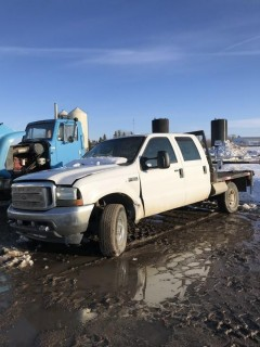 2002 Ford F-350 4X4 Crew Cab C/W 7.3L Power Stroke Turbo Diesel, A/T. *PARTS ONLY*