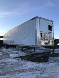 2000 Great Dane 48' T/A Van Trailer c/w coatings equipment and Contents. SN 1GRAA9627YW015804