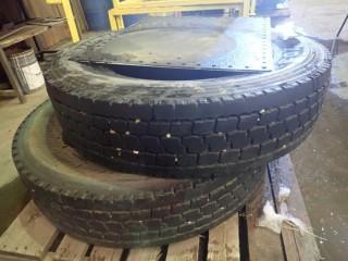 Qty Of (2) YOKOHAMA 11R 24.5 Tires