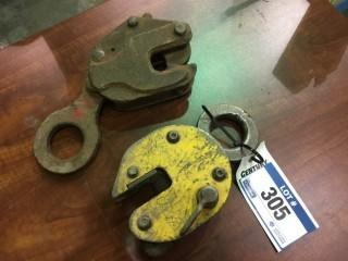 Qty Of (2) Steel Plate Clamps