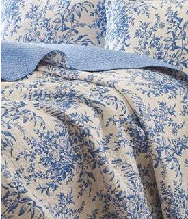 Aimee Cotton Reversible Quilt Set by Laura Ashley Home, Queen