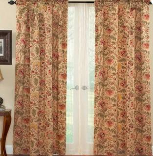 Imperial Dress Drapery Floral Room Darkening Rod Pocket Curtain Panels, Set Of 2, 52x84""