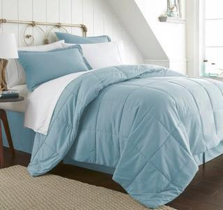 Gaia 8 Piece Bed in a Bag Set, Aqua, Full