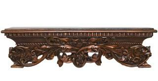 Open Leaf Bed Crown Wall Decor, Bronze
