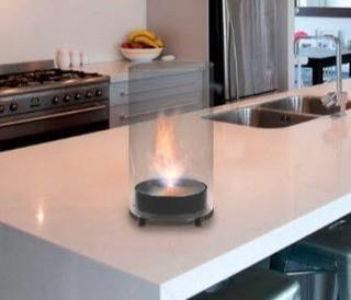 Eco-Feu Romeo Tabletop Fire Feature, Gloss Black